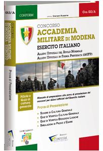 Libro Concorso Accademia Militare di Modena Esercito Italiano (Prova Preselezione)