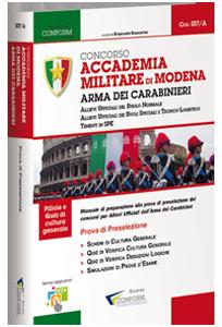 Libro Concorso Accademia Militare di Modena Arma dei Carabinieri (Prova Preselezione)